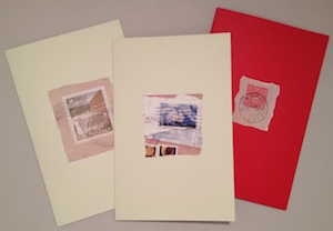 3 Card Set of Postage Art Image