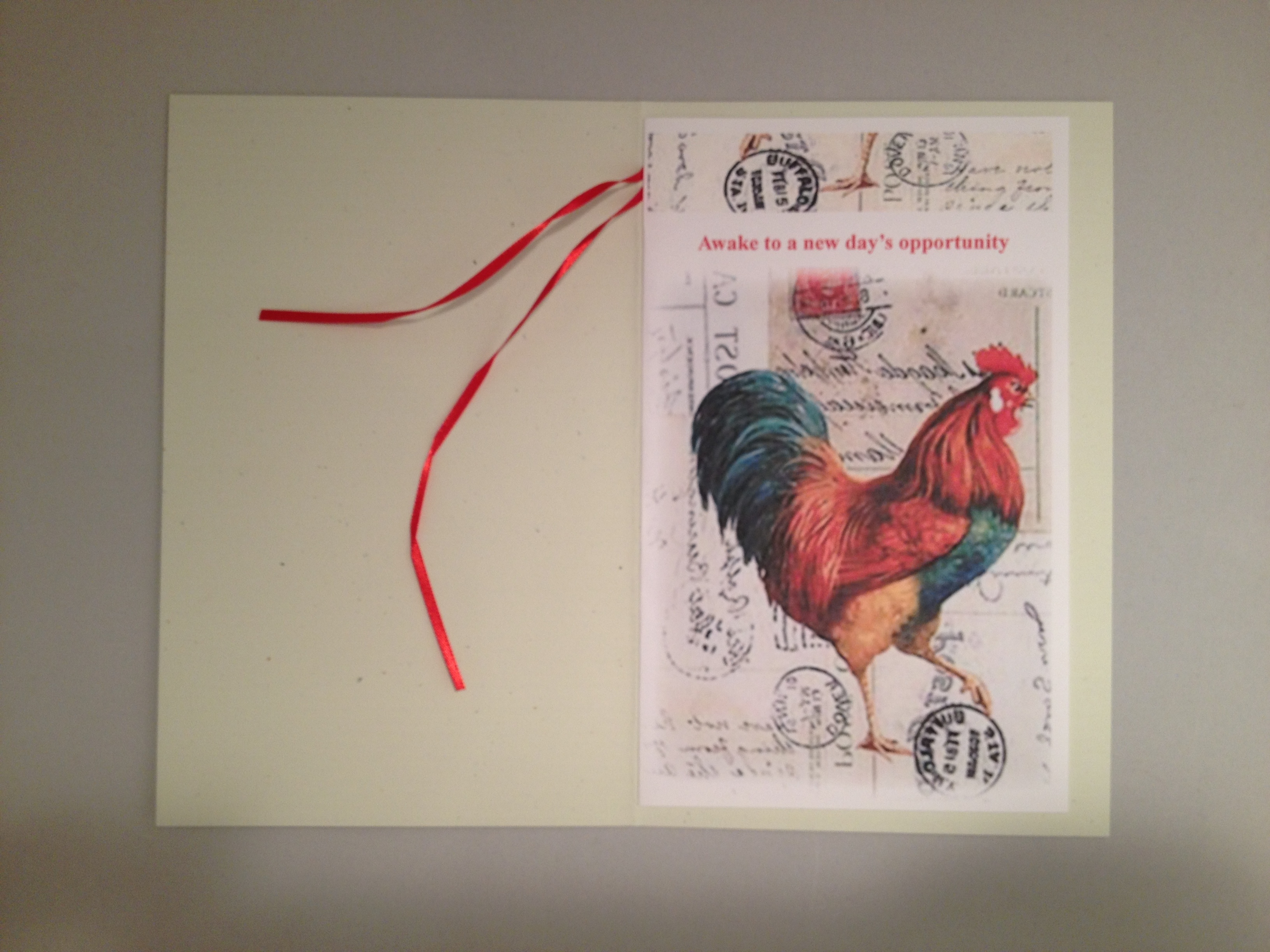 Large Rooster Greeting Card Image