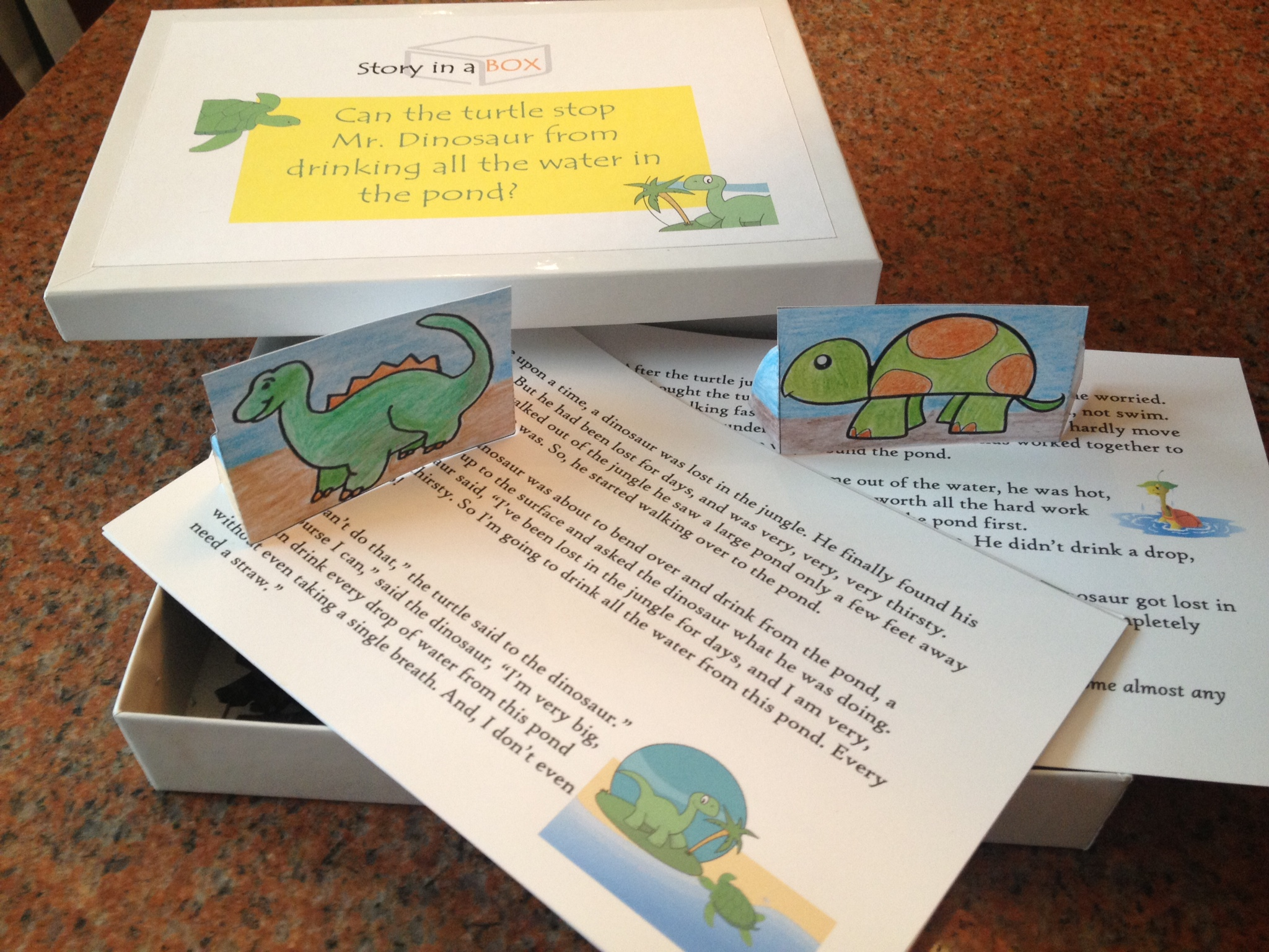 The Dinosaur and Turtle Story in a Box Image