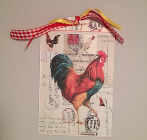 Large Rooster Gift Tag Image