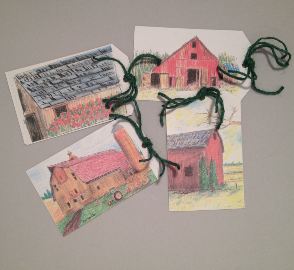Set of 4 Barn Tags Image
