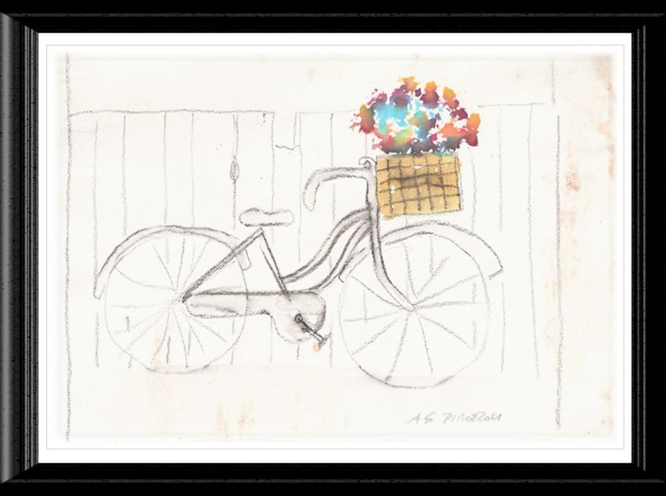 Bike with Flower Basket Image