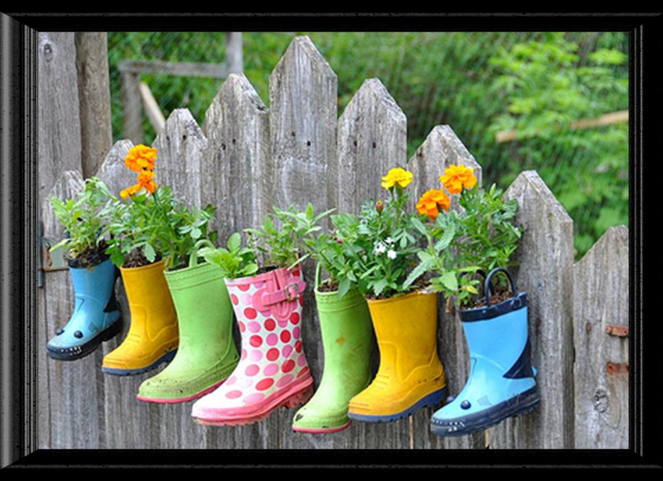 Flowering Boots Altered Art Image