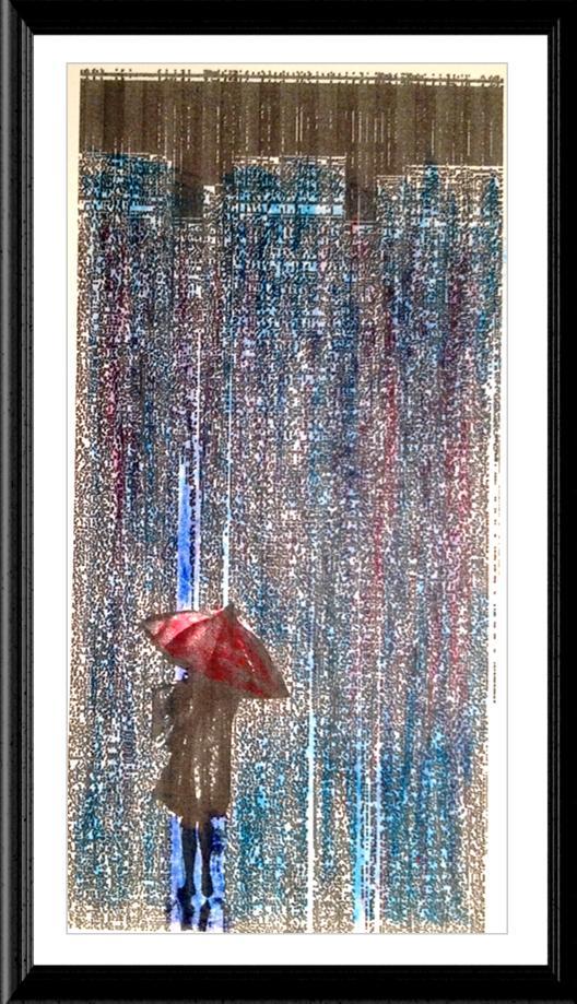 City Red Umbrella Image