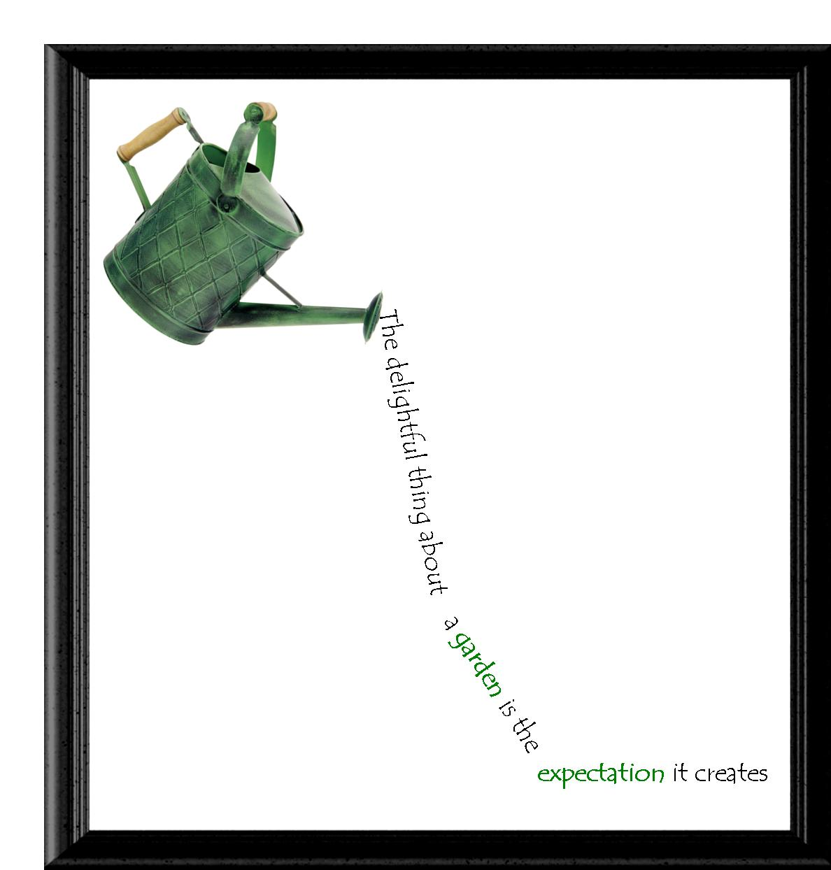 Watering Can with Inspirational Poem Image